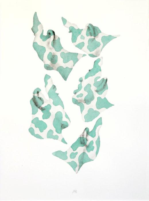 """Ohne Titel, aus der Serie """"Projektionen"""", 2013, Aquarell, 40 x 30 cm."""